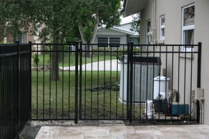 blk alum gate